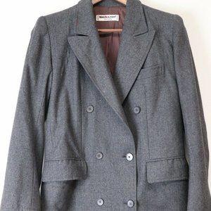 Vintage Saint Laurent Rive Gauche Gray Blazer